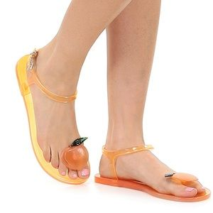 Katy Perry Geli Peach Scented Jelly Sandals